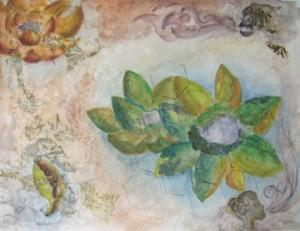 petals earth gouache map antique lotus wind monster islands
