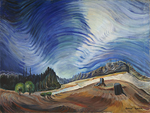 """Above the Gravel Pit, 1937"", Emily Carr (Photo: Trevor Mills) © Vancouver Art Gallery, all rights reserved"