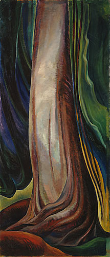 """Tree Trunk"", Emily Carr © Vancouver Art Gallery, all rights reserved"