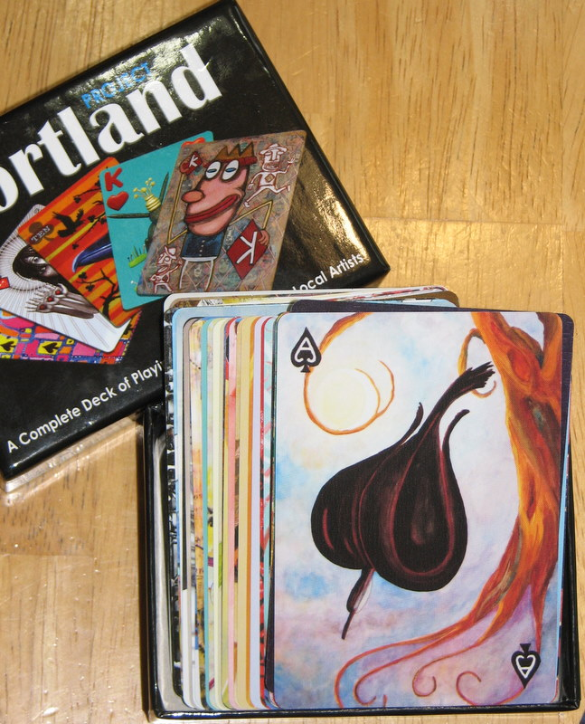 """Art in Hand"" Portland Project Deck Cards ""Ace of  Spades"" game play"
