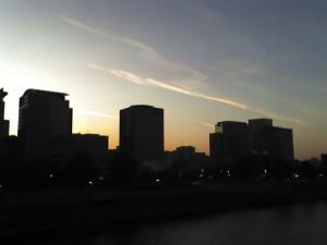 Downtown_Portland Portland Oregon skyline sunset buildings hawthorne_bridge