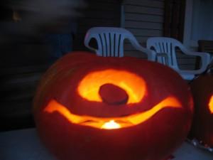"pumpkin carving ""jack o'lantern"" ""mike wazowski"" ""monsters inc"""