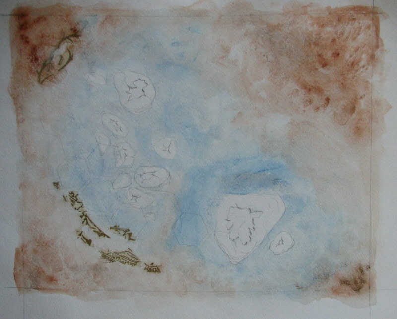 atlansky gouache untitled wip map painting rocks sandy river