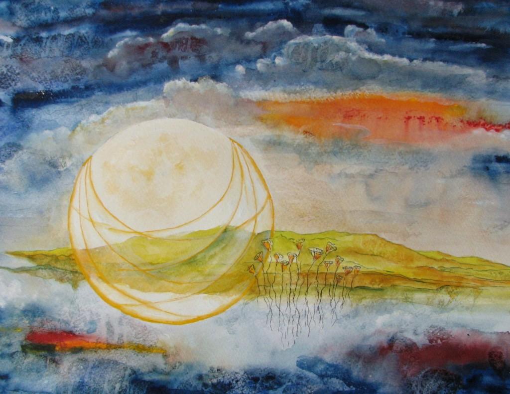 harvest-moon harvest moon september full-moon lesley-atlansky landscape flower plant basket weave cloud