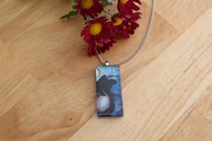 """moon tree spring"" pendant necklace bird etsy"