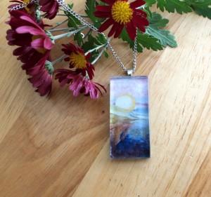 elemental pendant necklace landscape esty