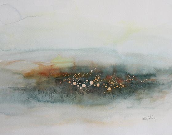 """The Stars We Are"", 11""x14"", 2014, Lesley Atlansky"
